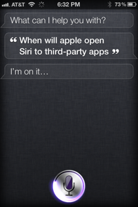 When will Apple open Siri to third-party apps